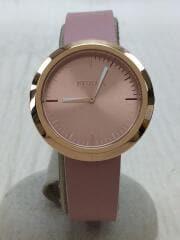 クォーツ腕時計/アナログ/レザー/PNK/PNK/4251103529/VALENTINA/ヴァレンティナ/