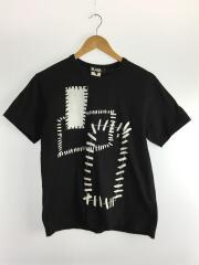 AD2016/1R-T001/Tシャツ/L/コットン/ブラック/プリント