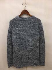 セーター(厚手)/タグ付/ローゲージ/クルーネック/エストネーション/M/コットン/グレー