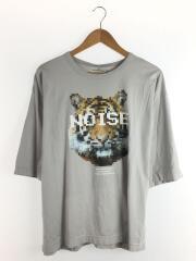 DOT TIGER TEE/モザイクTシャツ/虎/タイガー/1/コットン/グレー/SH-1953D