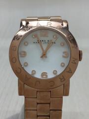 クォーツ腕時計/アナログ/ステンレス/ホワイト/白/ゴールド/ピンクゴールド/ケース付