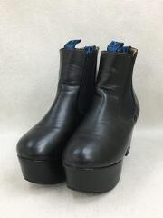 サイドゴアブーツ/LL/ショートブーツ/サイドゴア/ブラック/厚底
