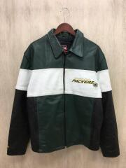 Mirage Green Bay Packers Leather Jacket/レザージャケット/M/グリーン