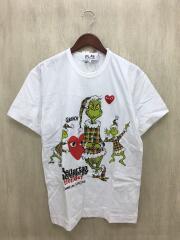 ×グリンチ/プリントTシャツ/OT-T014/タグ付/The Grinchi/L/コットン/ホワイト