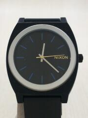 腕時計/アナログ/ラバー/BLK/BLK/TIME TELLER