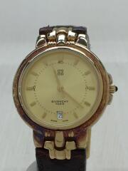 クォーツ腕時計/アナログ/GLD/BRD