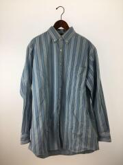 長袖シャツ/--/コットン/BLU/509347/18SS/Big Denim Shirt/ボタンダウン ストライプ