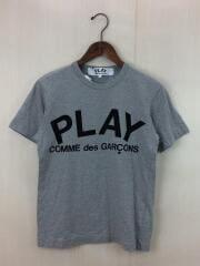 Tシャツ/S/コットン/ロゴ/グレー