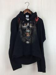 スウェットパーカー/Misplaced Skull Print Hoodie/XS/WAH18TR8/黒