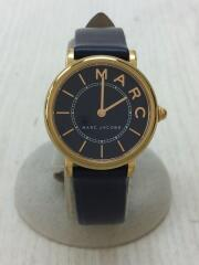 ROXY/クォーツ腕時計/MJ1539/アナログ/レザー/ネイビー