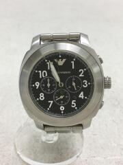 AR-6056/クロノグラフ/クォーツ腕時計/アナログ/ステンレス/黒文字盤/デイト