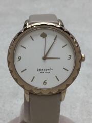 Morningside/クォーツ腕時計/アナログ/レザー/WHT/ksw1508