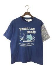 プリントTシャツ/--/コットン/BLU/NOBORI KOI BREADプリント