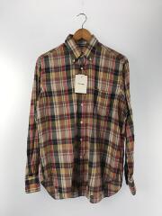 ボタンダウンシャツ/長袖シャツ/14.5/コットン/チェック
