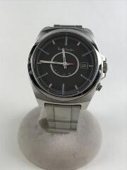 ソーラー腕時計/アナログ/ステンレス/BLK/SLV/H416-T020879