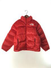 Faux Fur Nuptse Jacket Red/S/アクリル/RED