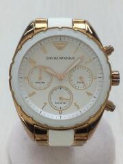 クォーツ腕時計/アナログ/--/WHT/GLD/AR-5942