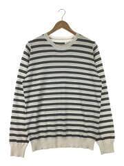 セーター(薄手)/--/コットン/ホワイト/ボーダー