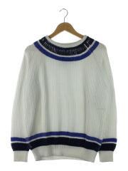 セーター(厚手)/SIZE:L/コットン/ホワイト