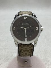 クォーツ腕時計/アナログ/--/ブラウン