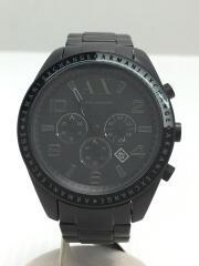 クォーツ腕時計/クロノグラフ/アナログ/ステンレス/BLK/BLK/ブラック/AX1255