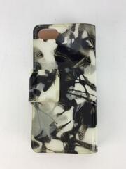 小物/レザー/WHT/総柄/エナメル/iPhone8/スマホケース/カバー/カードポケット