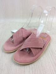 サンダル/UK4/22cm/ピンク/スウェード/クロスストラップ/タグ付