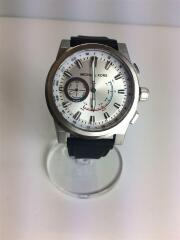 クォーツ腕時計/アナログ/エナメル/SLV/BLK