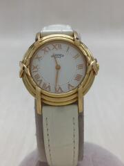 クォーツ腕時計/アナログ/レザー/WHT/WHT/RU2.270/付け替えベルト付/ルバン/