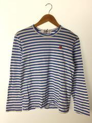 長袖Tシャツ/AZ-T218/AD2019/ロゴワッペン/S/コットン/BLU/ボーダー