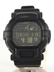 GD-350/クォーツ腕時計/デジタル/ラバー/ブラック/黒/