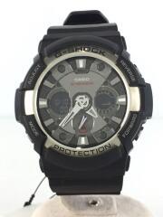 GA-200/カーボンコアガード/クォーツ腕時計/デジアナ/ラバー/ブラック/黒/