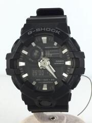 GA-700-1BJF/クォーツ腕時計/デジアナ/ラバー/ブラック/黒/20気圧防水