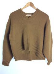 セーター(厚手)/ウール/キャメル/エアウール/コクーンスリーブ/Vネック/19-080-400-0400-3-0