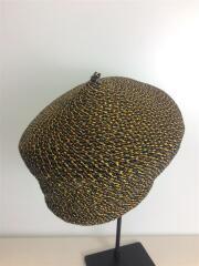 ベレー帽/--/レーヨン/ORN/無地/編み込み/麦わら/ヘッドウェア/帽子