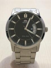 オリエント/クォーツ腕時計/アナログ/ステンレス/BLK/SLV/UND8-C1-B/ブラック/シルバー