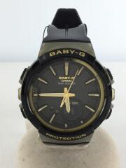 クォーツ腕時計・Baby-G/デジアナ/ナイロン/BLK/BLK