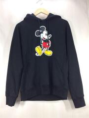 パーカー/46/コットン/ブラック/20SS/Mickey Mouse pullover hoodie/プルオーバー ミッキーマウス プリント