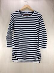 Tシャツ/七分袖/M/コットン/ネイビーx7ホワイト/ボーダー/AD2012