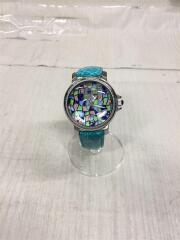 RITMO LATINO/クォーツ腕時計/アナログ/レザー/マルチカラー/BLU/ターコイズブルー