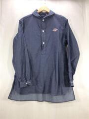 ダントン/シャツ/長袖/40/コットン/グレー/無地/15年モデル/ショ-ルカラープルオーバーシャツ