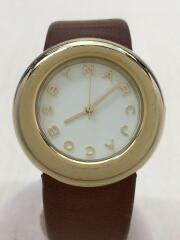 クォーツ腕時計/アナログ/レザー/WHT/MBM8520