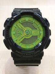 クォーツ腕時計/デジアナ/ラバー/GRN/GA-110B