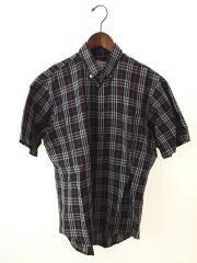 半袖シャツ/--/コットン/BLK/チェック