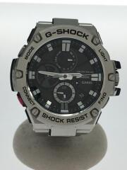 ソーラー腕時計・G-SHOCK/アナログ/ステンレス/BLK/SLV/ベルト部分小傷有
