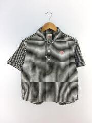 半袖シャツ/34/コットン/BLK/チェック