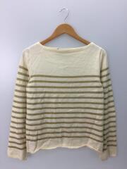 セーター(薄手)/S/ウール/アイボリー/PS-N006/AD2006