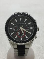 クォーツ腕時計/アナログ/ステンレス/ブラック/AX1813