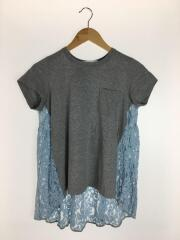 Tシャツ/3/コットン/GRY