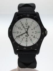 ロンハーマン/クォーツ腕時計/アナログ/レザー/ホワイト/ブラック